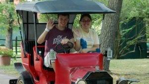 Antique Car Ride at Lake Winnespesaukah