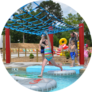 Kid Friendly Water Park at Lake Winnie in Chattanooga