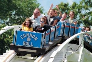 Cannonball Wooden Roller Coaster
