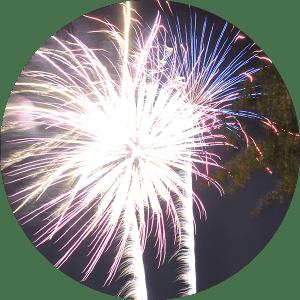 Giant Fireworks at Lake Winnie