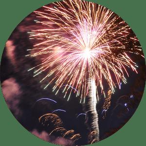 Lake Winnie Fireworks in Chattanooga