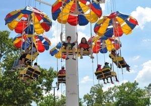 Family Friendly Parachutes Ride at Lake Winnie