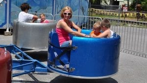 Silly Saucers Kid Friendly Ride at Lake Winnie