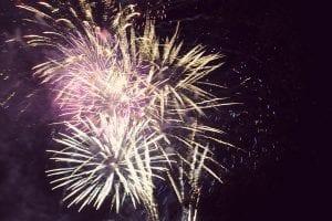 Fireworks Display at Lake Winnie