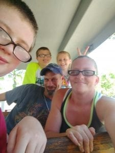 Family Having Fun at Lake Winnie in Chattanooga