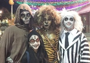 Costumed Characters at Lake Winnie During Halloween