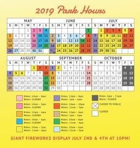 Lake Winnie Schedule for 2019
