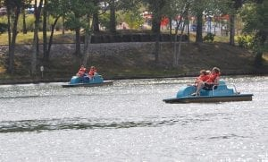 Amusement Park Paddle Boats at Lake Winnie