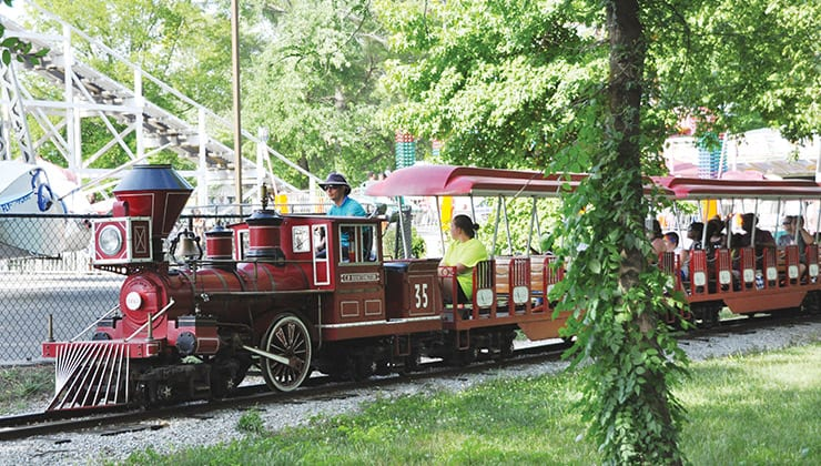 Family Tour Train at Amusement Park in Tennessee