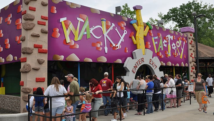 Wacky Factory at Amusement Park in Tennessee