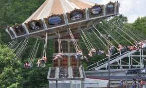 Twirling Swings at Lake Winnie in Chattanooga