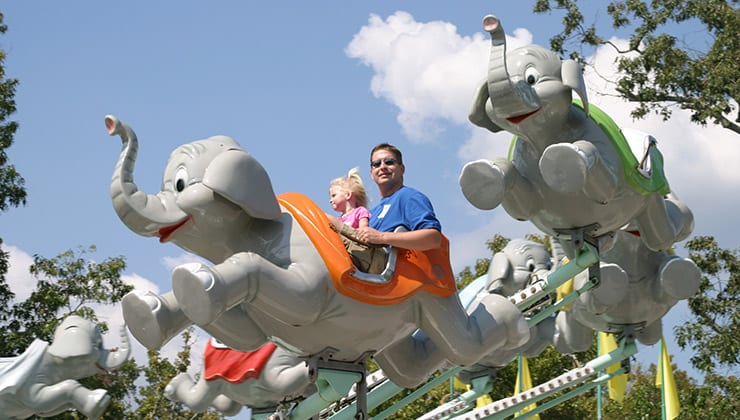 Jumbo Elephant Ride for Kids at our Amusement Park in Georgia