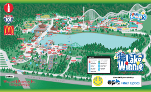 Lake Winnepesaukah Amusement Park Map