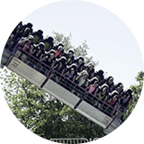 Twister Thrill Ride at Lake Winnie Amusement Park
