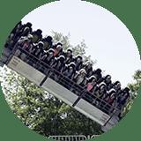Twister Thrill Ride at Lake Winnie Amusement Park