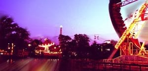 Lake Winnepesaukah Amusement Park at Night