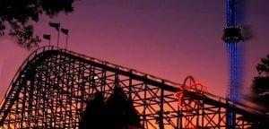 Cannonball Thrill Ride at Night