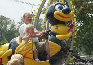 Bumble Bee Kid Friendly Amusement Park Ride