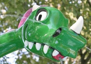 Kid Friendly Water Park Dragon Statue