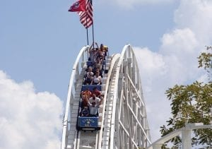 Cannonball Roller Coaster at Lake Winnie in Chattanooga