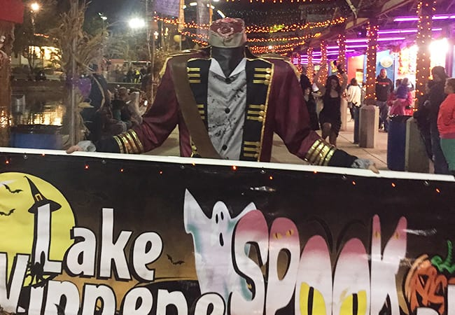haunted train ride as well as hourly magic shows and thriller parade and dont miss the lake illuminated by a mesmerizing choreographed light show